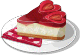 Dish-Strawberry Heart Cheesecake