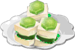 Dish-Cucumber Tea Sandwich
