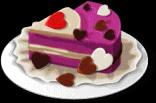 Dish-Purple Heart Cake