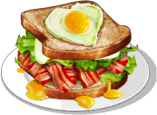 Dish-Bacon and Egg Sandwich