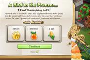 A Bird in the freezer...