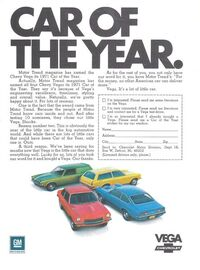 1971 Vega Car of the Year Ad