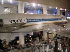 Boeing 727 exhibit at MSI