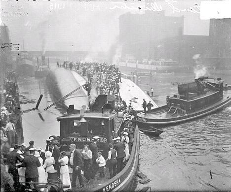 File:Eastland Disaster Rescue Efforts, 1915.JPG