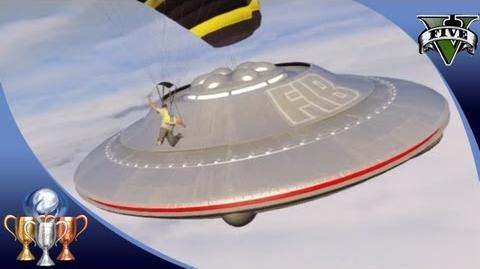 GTA 5 - Flying UFO 3 Easter Egg Over Sandy Shores - Illuminati UFO Easter Eggs 100%