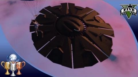 GTA 5 - Flying UFO 2 Easter Egg Over Fort Zancudo - Illuminati Alien UFO Easter Eggs 100%-0