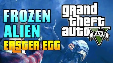 """GTA 5 Easter Eggs - FROZEN ALIEN EASTER EGG! (GTA V Frozen Alien) """"gta 5 mission 1"""""""