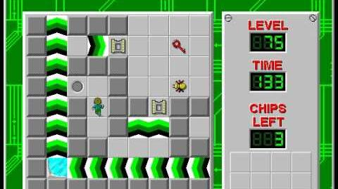 CCLP2 level 75 solution - 113 seconds