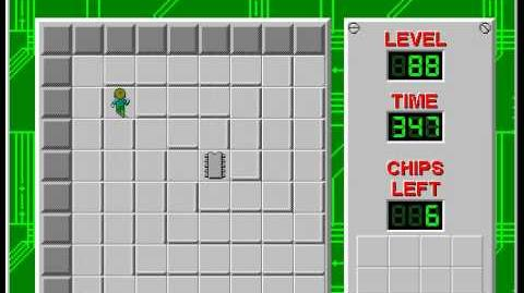 Chip's Challenge 1 level 88 solution - 317 seconds