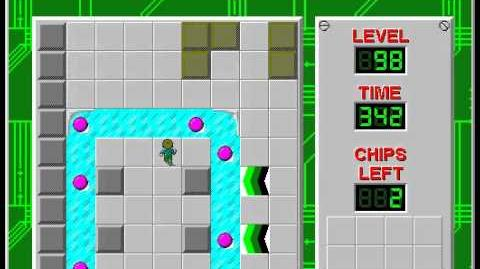 Chip's Challenge 1 level 98 solution - 338 seconds
