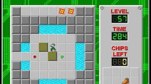 CCLP2 level 57 solution - 266 seconds
