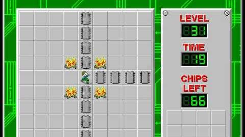 Chip's Challenge 1 level 31 solution - 6 seconds