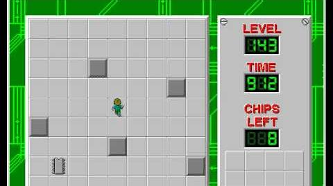 Chip's Challenge 1 level 143 solution - 858 seconds