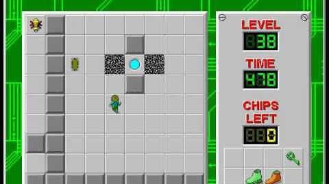 Chip's Challenge 1 level 38 solution - 462 seconds