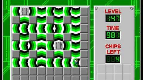 Chip's Challenge 1 level 147 solution - 970 seconds