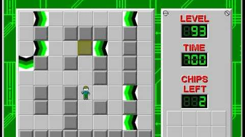 Chip's Challenge 1 level 93 solution - 650 seconds