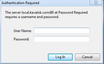 Kavalok Error Message