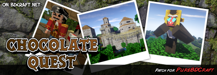 Chocolate Quest HD Texture Pack Patch for Pure BDCraft Banner