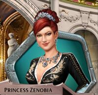 Zenobia with necklace