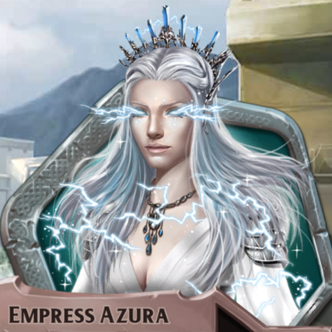 Azura when using her powers