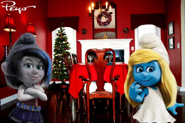 File:Vexy and Smurfette on Christmas Eve.jpg