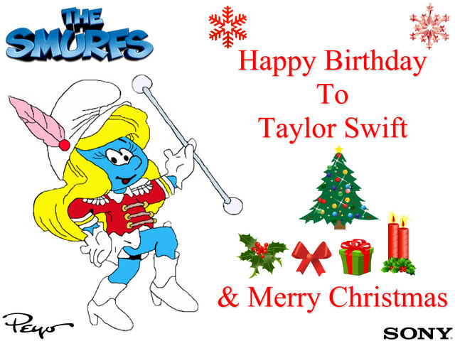 File:Smurfette's Christmas Birthday Message To Taylor Swift.jpg