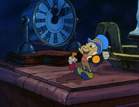 Jiminy Cricket as The Ghost of Christmas Past