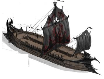 Treshian-warship