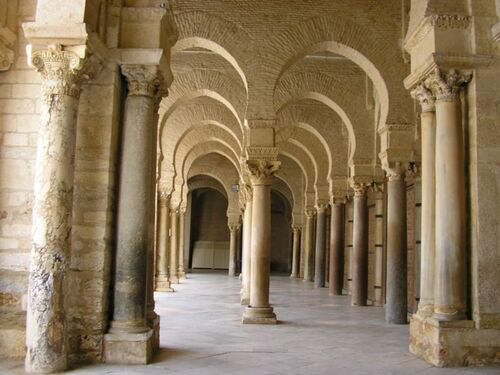 Galerie of Great Mosque at Kairouan