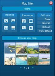 Map Filter Menu