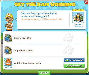 Get The Dam Working-goal