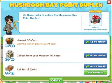 Mushroom Bay Point Duplex-goal