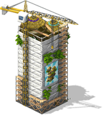 Tonga Tower scaffolding