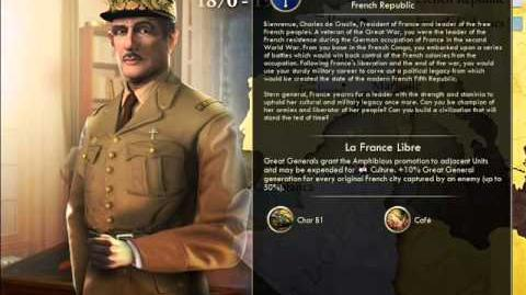French Republic - Charles De Gaulle War