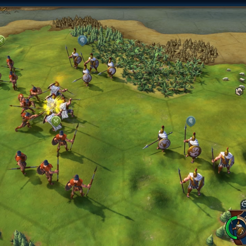 Hoplites in the field