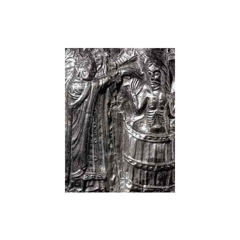 Relief of Harald Bluetooth being baptized by Poppo the monk