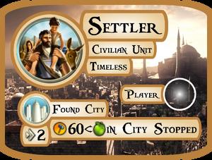 Settler Info Card