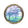 Item cherry trees background