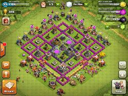 Town hall level 8 base, farming