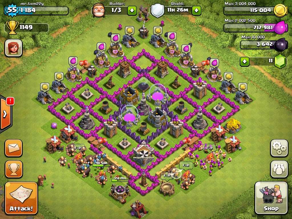 Image - Town hall level 8 base, farming.jpg | Clash of ...