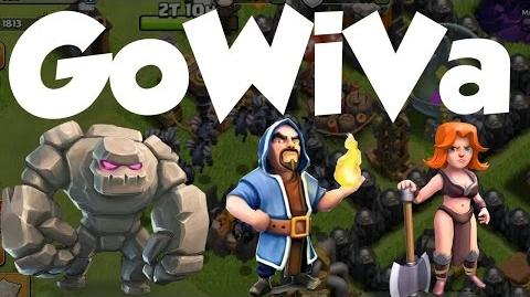 Clash of clans new GoWiVa 3 star strategy, Best Th 10 three star attack