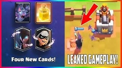 Clash royale new card dark witch, bats , heal and bandit gameplay leaked