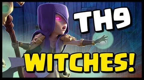 Best TH9 Attack Strategy Series - WITCHES! 3 Star Attacks in Clash of Clans