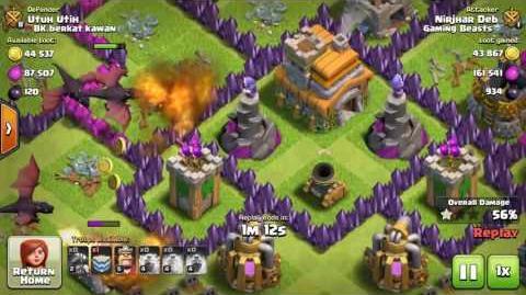 Clash of Clans Mass Dragon Raid conducted by Nirjhar Deb