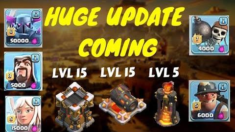 **NEW UPDATE HERE** Pekka lvl 6-HEALER 5 cannon lvl 15 and more-clash of clans june update coming
