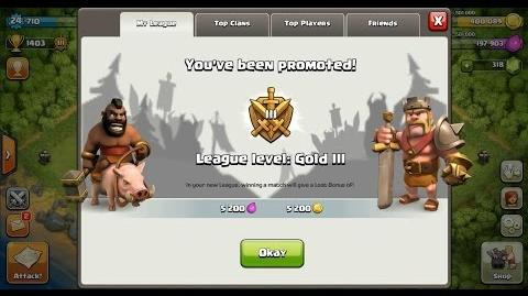 Clash of Clans Town Hall 4 (TH4) Gold League III-2