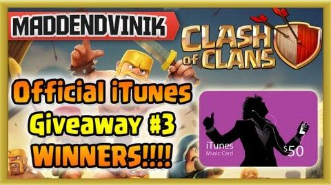 Clash of Clans - Official iTunes Giveaway 3 Winners!