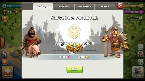 Clash of Clans Town Hall 4 (TH4) Gold League II-0