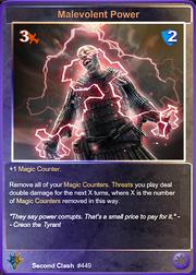 449 Malevolent Power (Foil)