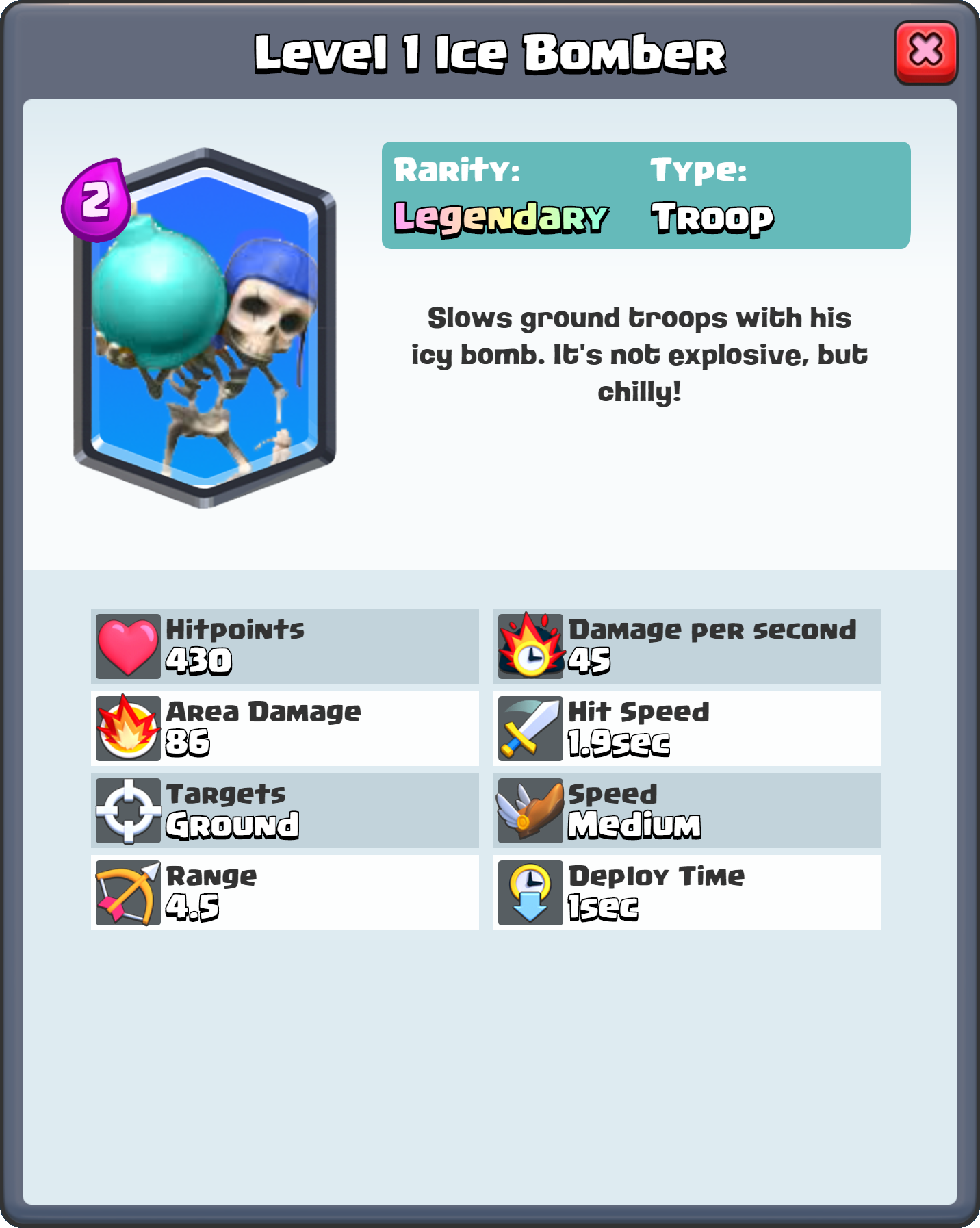 Image Level 1 Ice Bomber Fq Png Clash Royale Wiki